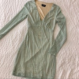 Pale green Bebe dress